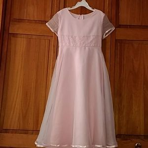 Girls pink size 10 dress
